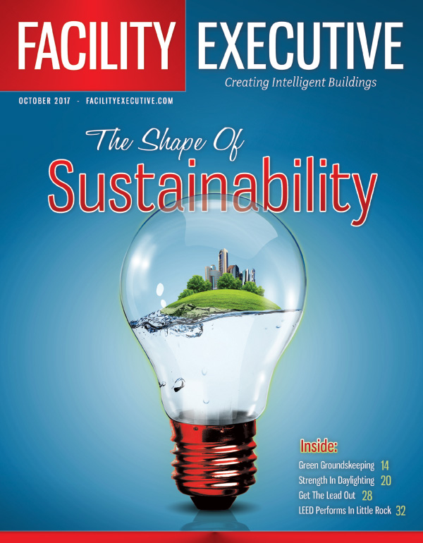 The October 2017 issue features a focus on sustainability, including groundskeeping, lighting, roofing, energy purchasing programs, and more. Plus, a look at emerging tech, HVAC, and strategic planning.